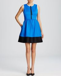 Kate Spade Color Block Scuba Dress - Lyst