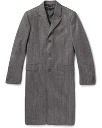Calvin Klein Woven Wool and Cotton-blend Overcoat - Lyst