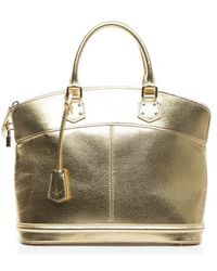 Louis Vuitton Preowned Gold Suhali Lockit Pm Tote Bag - Lyst