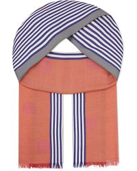 Paul Smith Black Label Polka Stripe Cotton Scarf