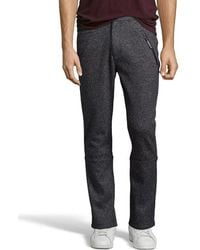 Matiere - Anthracite Heathered Rib Knit Wool Blend 'enzo' Sweatpants - Lyst