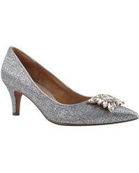 Kay Unger - Gabbie Metallic Court Shoes - Lyst