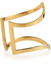 Jennifer Zeuner - Marina 18k Vermeil Split Peaked Ring - Lyst