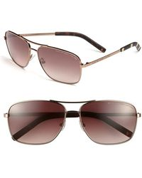 Marc By Marc Jacobs - 59mm Aviator Sunglasses - Shiny Brown - Lyst
