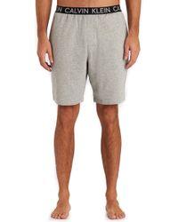 Calvin Klein Grey Soft Lounge Short gray - Lyst