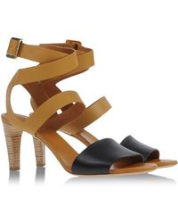 Chloé Sandals brown - Lyst