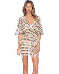 Vix Multicolor Fringe Kimono - Lyst