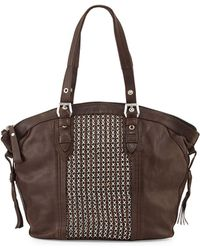 orYANY Betsy Chain-Weave Tote Bag brown - Lyst