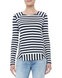 Marc By Marc Jacobs Yuni Striped Ponte Top - Lyst