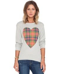 Wildfox Tartan Heart Long Sleeve - Lyst