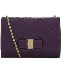 Ferragamo Vara Box Quilted Shoulder Bag - Lyst