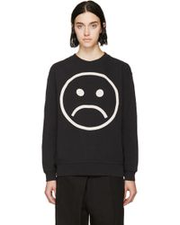 Marc By Marc Jacobs Black Magnified Sad Face Sweatshirt - Lyst