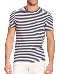 Polo Ralph Lauren Striped Jersey Tee - Lyst