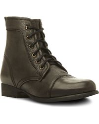 Steve Madden Tuundra Lace Up Boots Black - Lyst