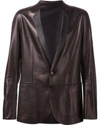 DROMe Classic Leather Blazer - Lyst
