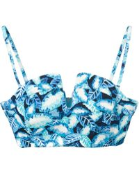 Opening Ceremony Leaf Print Bustier - Lyst