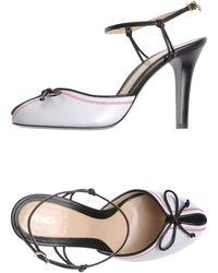 Fendi White Sandals - Lyst
