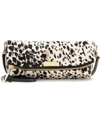 Burberry London The Petal Printed Calf Hair Clutch - Lyst