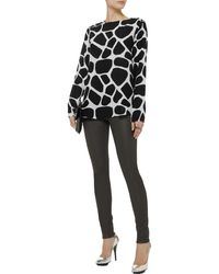 Pierre Balmain Printed Silk Top - Lyst