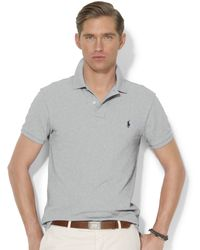 Polo Ralph Lauren Solid Slim-Fit Mesh Polo - Lyst