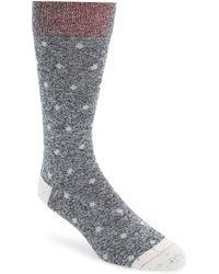Mr Gray - Textile 'denim Chip' Dot Socks - Lyst