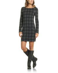 Patrizia Pepe Short Dress in Stretch Fabric - Lyst