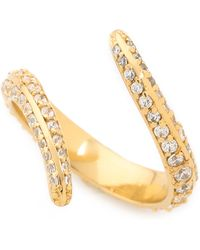 Joanna Laura Constantine - Horn Ring - Gold/clear - Lyst