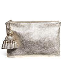 Anya Hindmarch Georgiana Tassel Leather Zip Clutch - Lyst