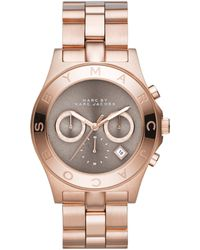 Marc By Marc Jacobs Women'S Chronograph Blade Rose Gold-Tone Stainless Steel Bracelet Watch 40Mm Mbm3308 - Lyst