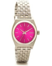 Nixon Small Time Teller Watch - Pink Sunray - Lyst