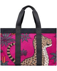 Hermès Leopards purple - Lyst