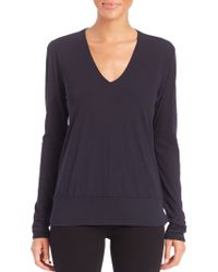 James Perse | Long-sleeve Cotton Jersey Top | Lyst