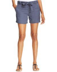 Calvin Klein Jeans Tie-waist Shorts - Lyst