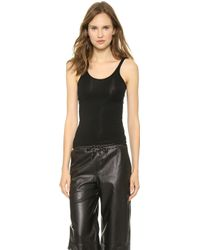 T By Alexander Wang Modal Cami Tank Top Black - Lyst