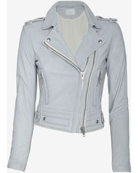 Iro Luiga Double Zip Moto Jacket Grey - Lyst