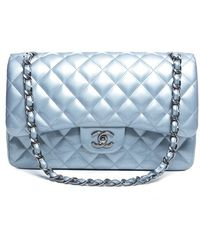 Chanel Pre Owned Patent Leather Jumbo Double Flap Bag - Lyst