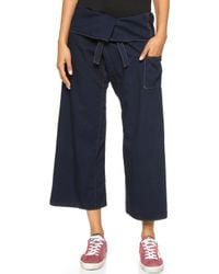 Basic Terrain - Eden Crop Trousers - Deep Indigo - Lyst