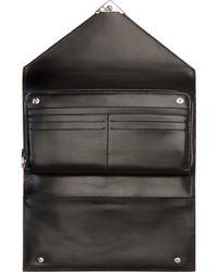 Alexander Wang Black Buffed Leather Prisma Envelope Clutch - Lyst