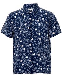 Chinti & Parker Star-Print Silk Shirt - Lyst