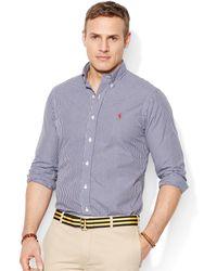Ralph Lauren Polo Big and Tall Gingham Check Bright Poplin Shirt - Lyst