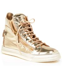 Giuseppe Zanotti - Lace Up High Top Trainers - London - Lyst