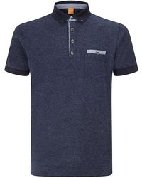 Boss Orange Man Patches Polo Shirt - Lyst