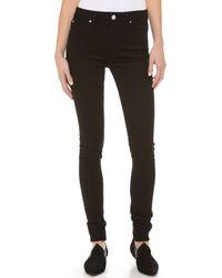Thvm - Behati High Waist Skinny Jeans Black - Lyst