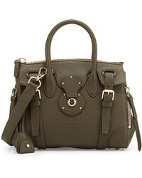 Ralph Lauren Ricky 27 Tumbled Satchel Bag - Lyst