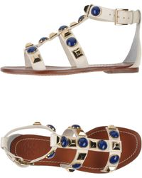 Tory Burch White Sandals - Lyst