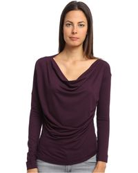 Vivienne Westwood Anglomania Ls New Drape Top - Lyst