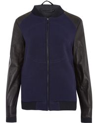 Francis Leon - Navy The Outsiders Leather Jacket - Lyst