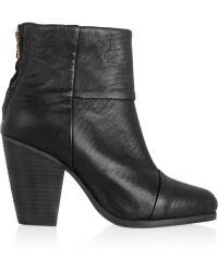 Rag & Bone Newbury Lizard-effect Leather Ankle Boots - Lyst