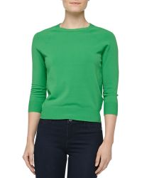 Michael Kors Crewneck Crepe Raglan Sweater - Lyst