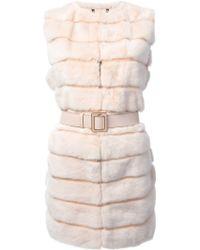 Fendi Boxy Fur Gilet - Lyst